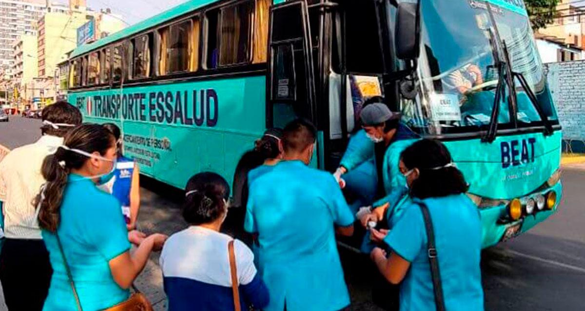 Beat habilitó un bus absolutamente gratuito a total disposición del personal médico EsSalud (Foto: Beat)
